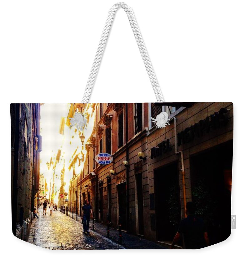 Rome Weekender Tote Bag featuring the photograph Streets Of Rome 2 by Angela Rath