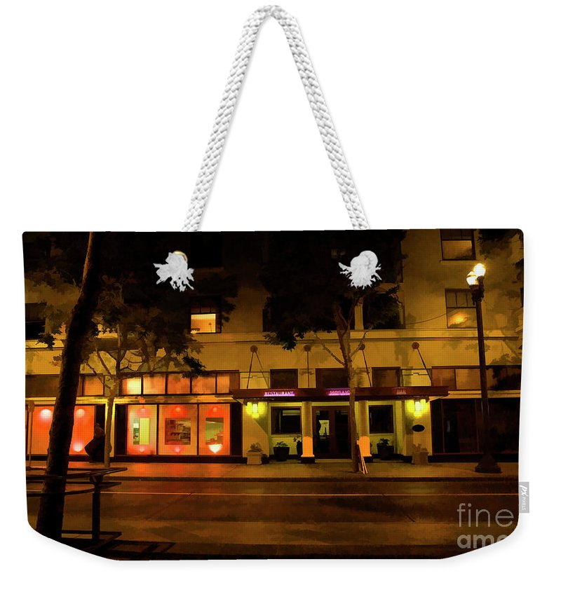 Architecture Weekender Tote Bag featuring the photograph Streets Of San Jose, Ca Midnight by Chuck Kuhn