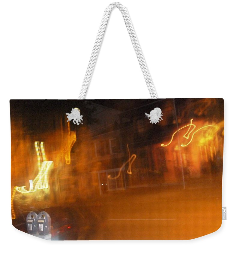 Photograph Weekender Tote Bag featuring the photograph Streets On Fire by Thomas Valentine