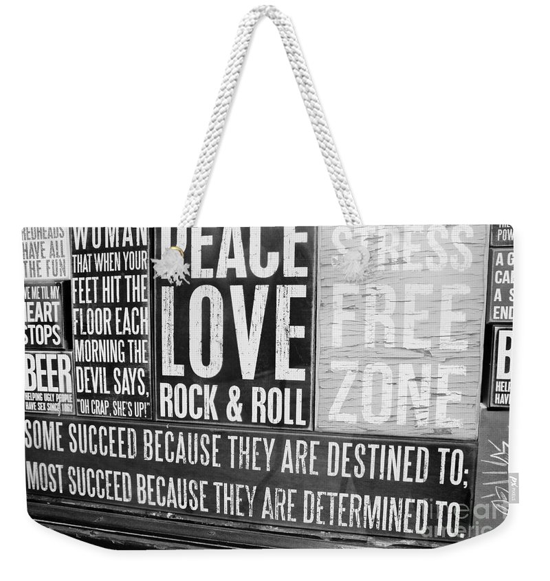 Metal Prints Weekender Tote Bag featuring the photograph Stress Free Zone Too by Dorothy Hilde
