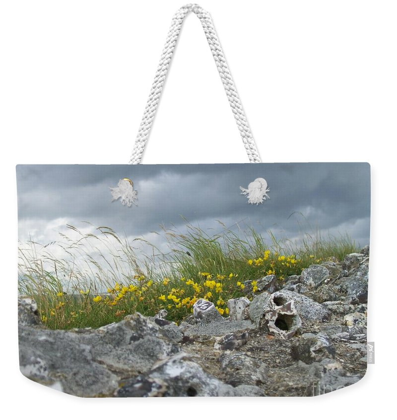 Old Weekender Tote Bag featuring the photograph Striking Ruins by Mary Mikawoz