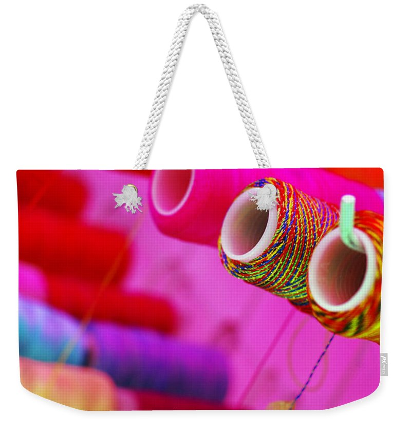 Color Weekender Tote Bag featuring the photograph String Theory by Skip Hunt