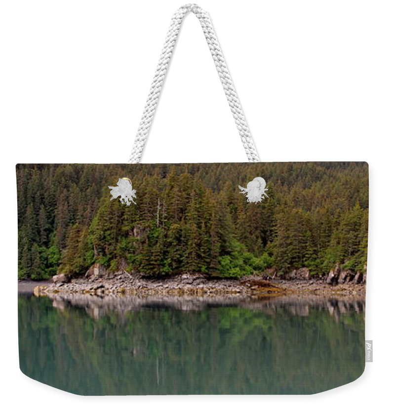 Shore Line Weekender Tote Bag featuring the photograph Strip Of Beach by Rick Monyahan