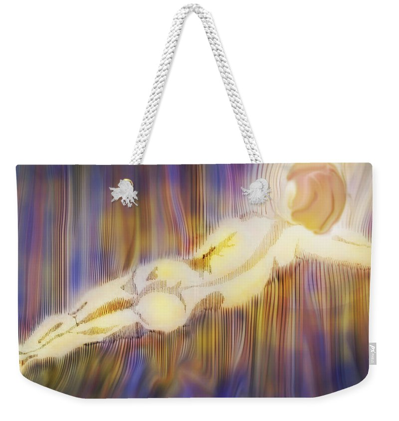 Nude Weekender Tote Bag featuring the digital art Stripes by Ian MacDonald