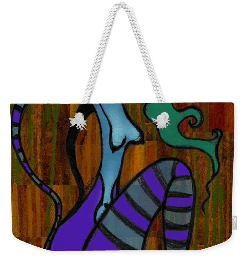 Stripes Weekender Tote Bag featuring the digital art Stripes by Kelly Jade King