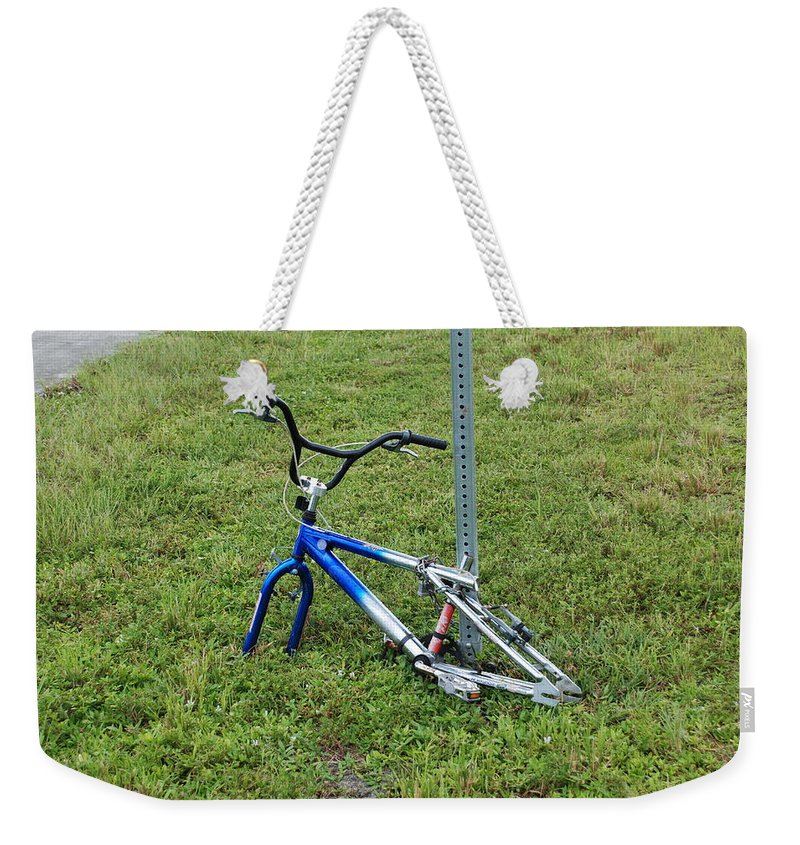 Bicycle Weekender Tote Bag featuring the photograph Stripped by Rob Hans