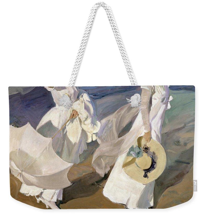 Joaquin Travel Towel: Strolling Along The Seashore Weekender Tote Bag For Sale