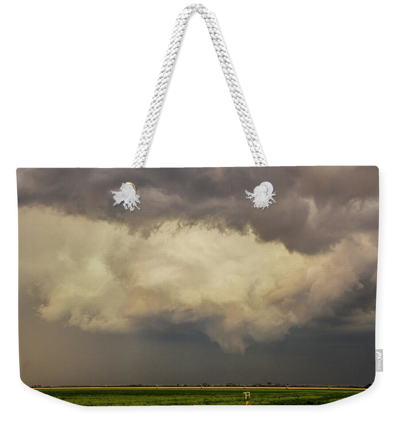 Nebraskasc Weekender Tote Bag featuring the photograph Strong Storms In South Central Nebraska 006 by NebraskaSC