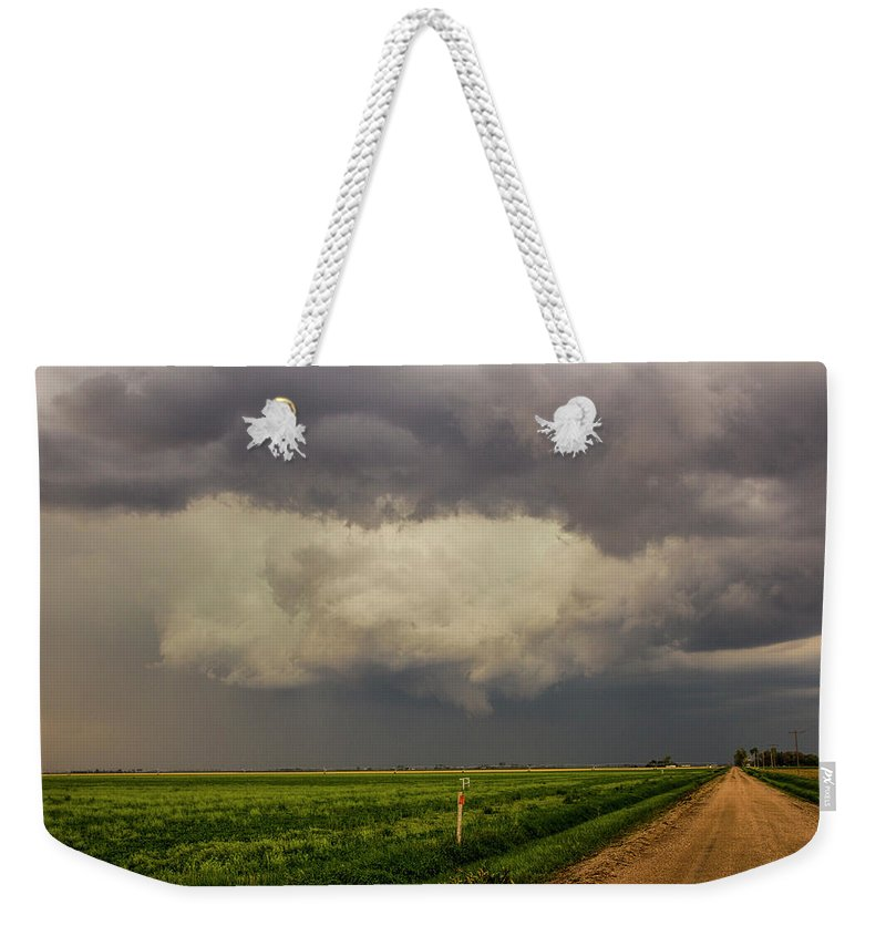 Nebraskasc Weekender Tote Bag featuring the photograph Strong Storms In South Central Nebraska 008 by NebraskaSC