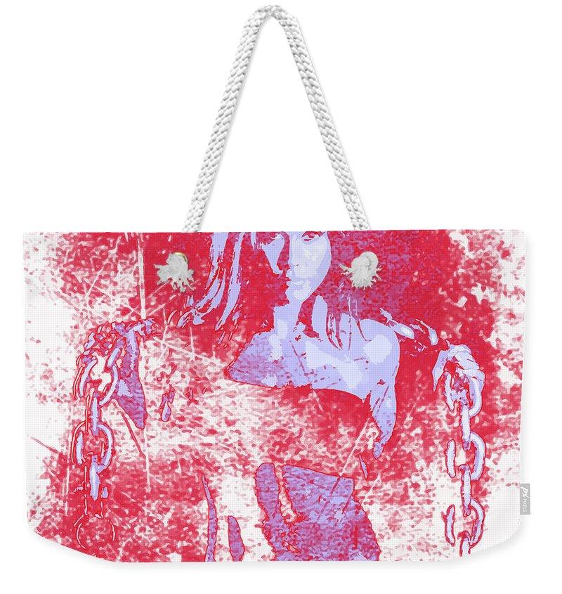 Woman Weekender Tote Bag featuring the digital art Strong Women 1 by John Novis