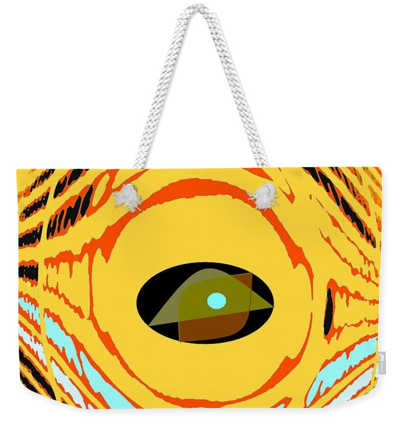 Yellow Weekender Tote Bag featuring the photograph Structure In Perspective by Ian MacDonald