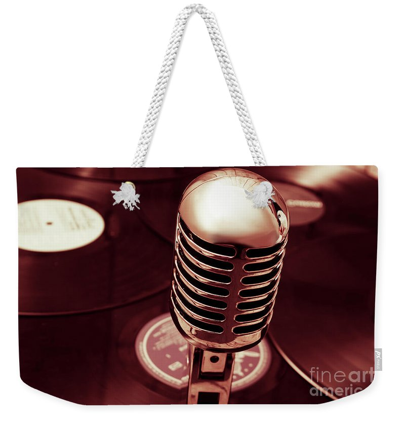 Mic Weekender Tote Bag featuring the photograph Studio Of Old by Jorgo Photography - Wall Art Gallery