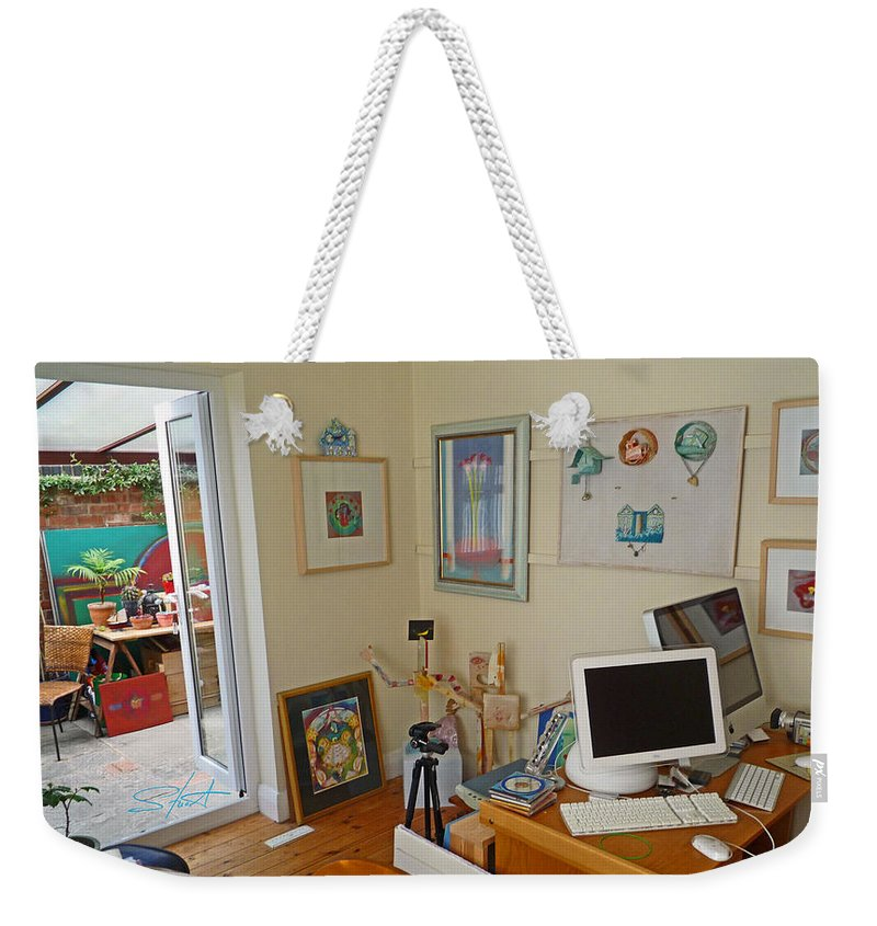 Artists Studio Weekender Tote Bag featuring the photograph Studio Still by Charles Stuart