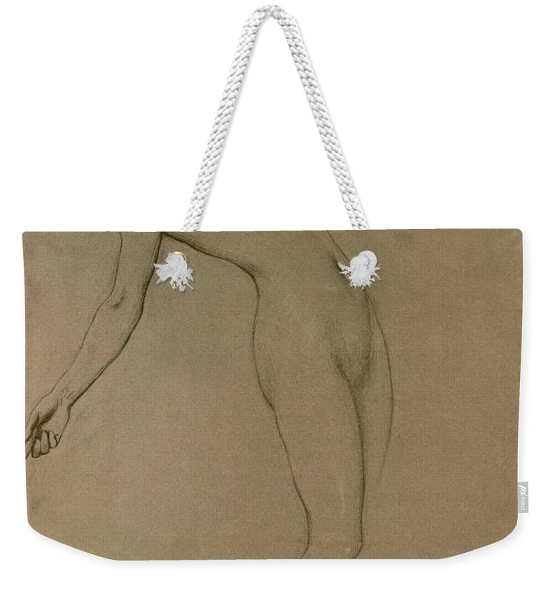 Study Weekender Tote Bag featuring the drawing Study For Clyties Of The Mist by Herbert James Draper