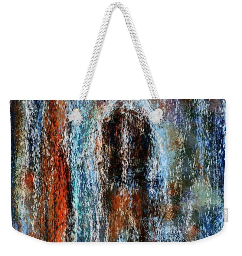 Weekender Tote Bag featuring the digital art Stump Revealed by David Lane