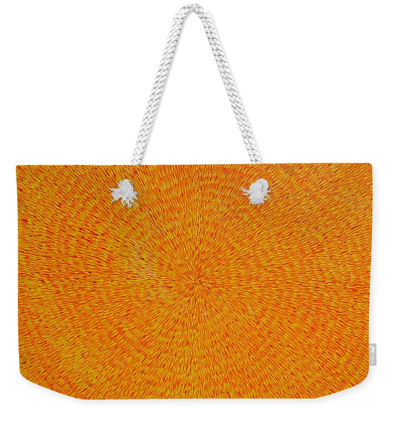 Abstract Weekender Tote Bag featuring the painting Su Gaia by Dean Triolo