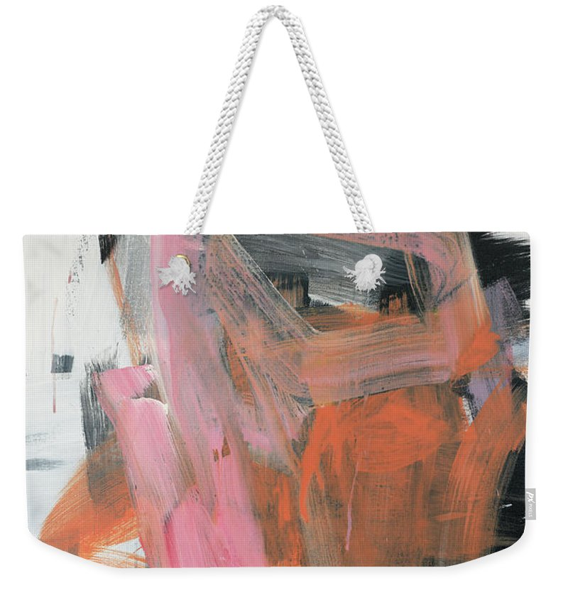 Abstract Painting Weekender Tote Bag featuring the painting Subconscious Impressions by James Hudek