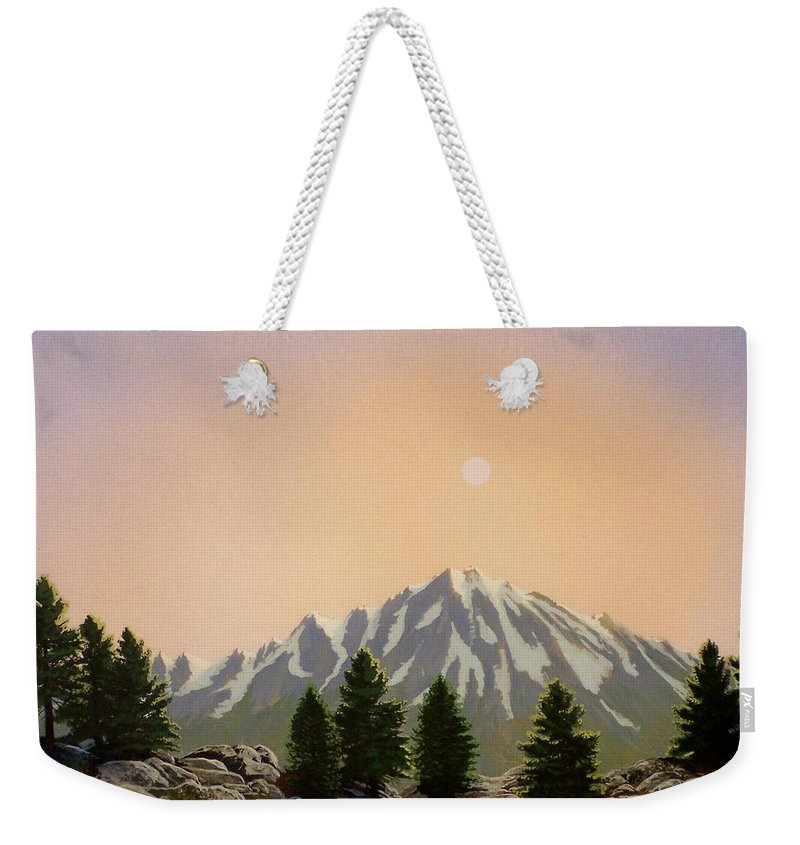 Landscape Weekender Tote Bag featuring the painting Sublime Sierra Light by Frank Wilson