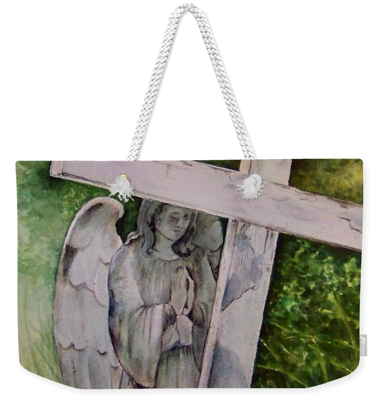 Watercolor Weekender Tote Bag featuring the painting Sublime Watcher by Brenda Owen
