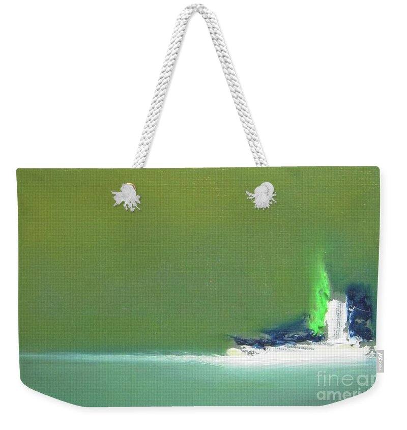 Abstract Weekender Tote Bag featuring the painting Submarine by Vesna Antic