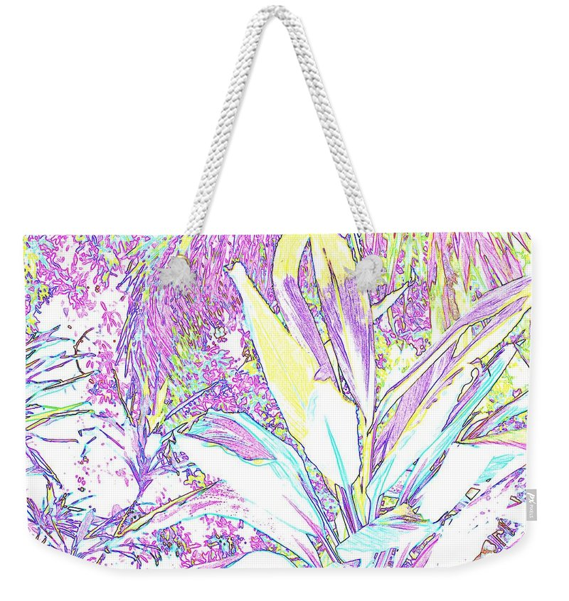 Abstract Weekender Tote Bag featuring the photograph Subtle Leaf by Ian MacDonald
