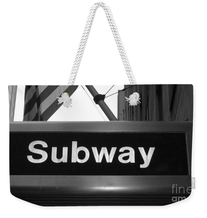 Subway Weekender Tote Bag featuring the photograph Subway by Debbi Granruth