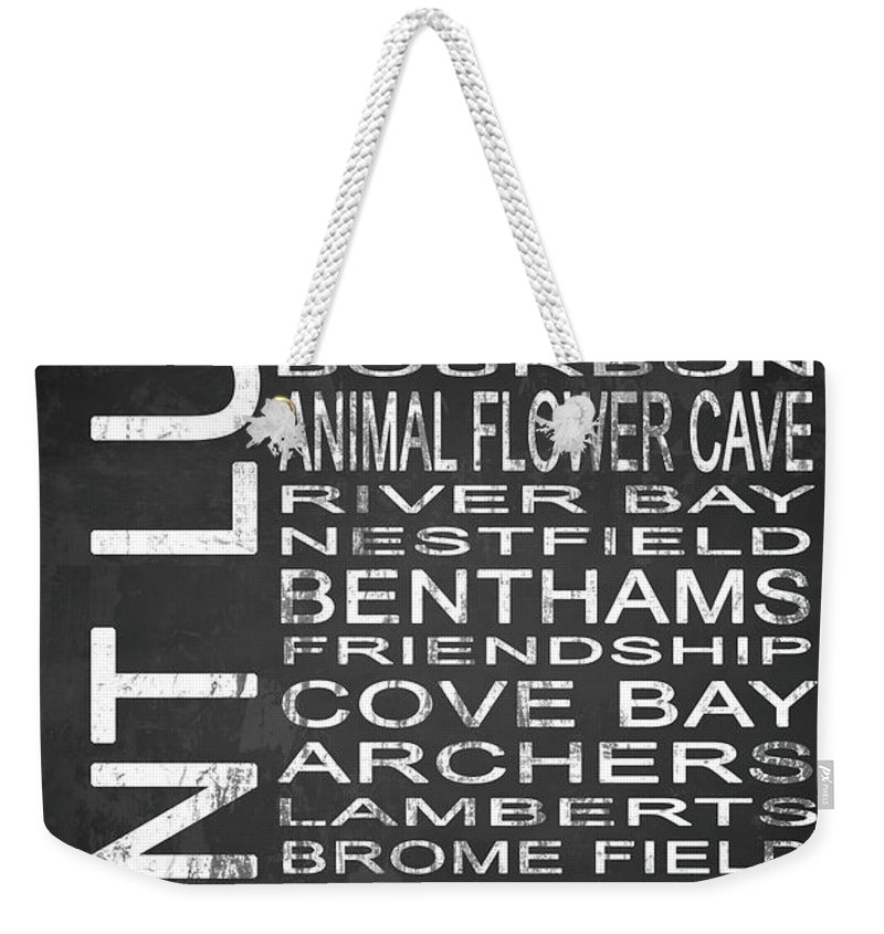 Art Weekender Tote Bag featuring the digital art Subway Saint Lucy Barbados 1 by Melissa Smith