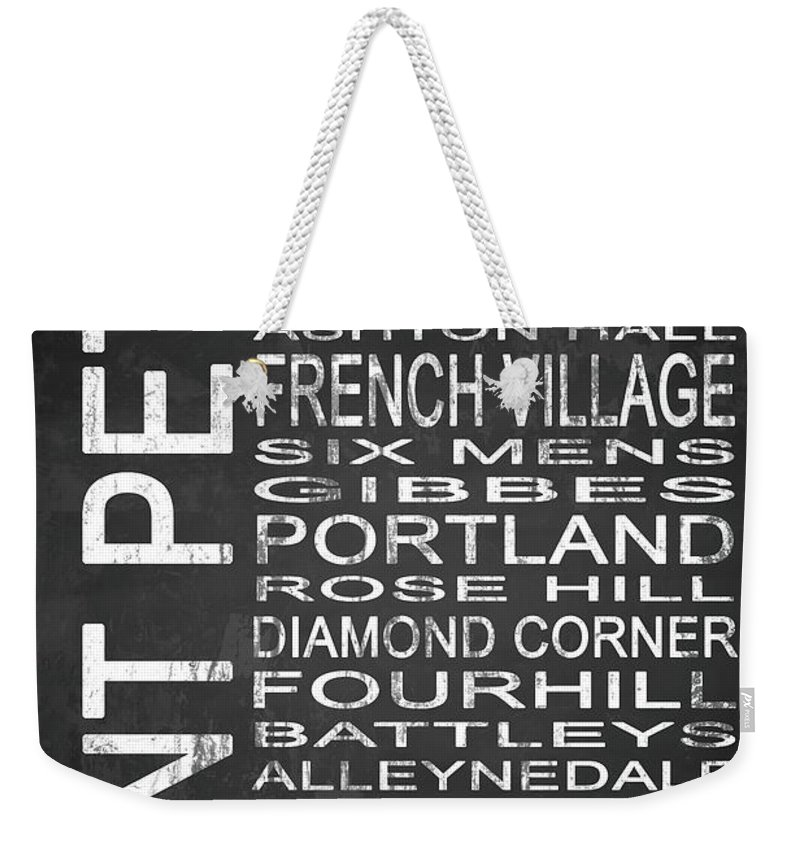 Art Weekender Tote Bag featuring the mixed media Subway Saint Peter Barbados 1 by Melissa Smith
