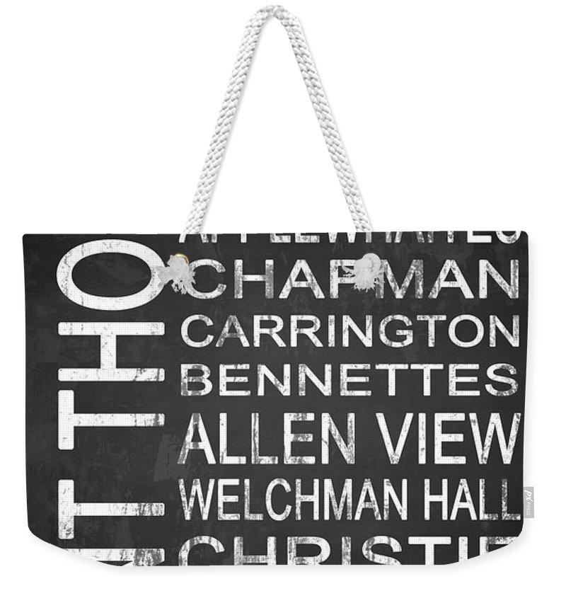 Art Weekender Tote Bag featuring the mixed media Subway Saint Thomas Barbados 1 by Melissa Smith