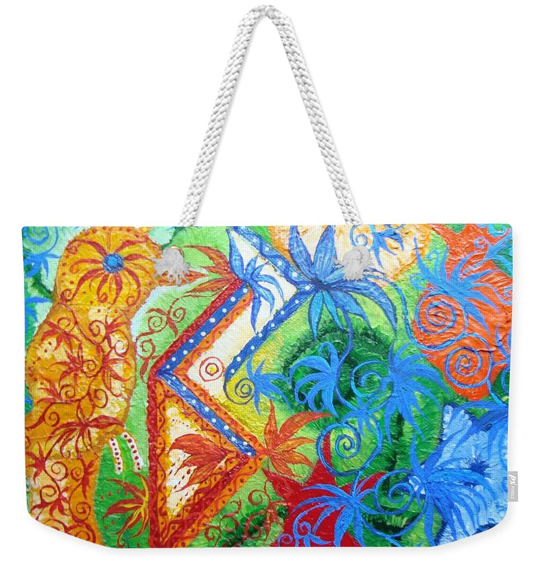Runes Weekender Tote Bag featuring the painting Success From Project by Joanna Pilatowicz