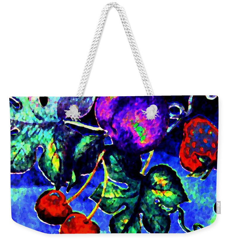 Abstract Weekender Tote Bag featuring the digital art Succulence by Will Borden