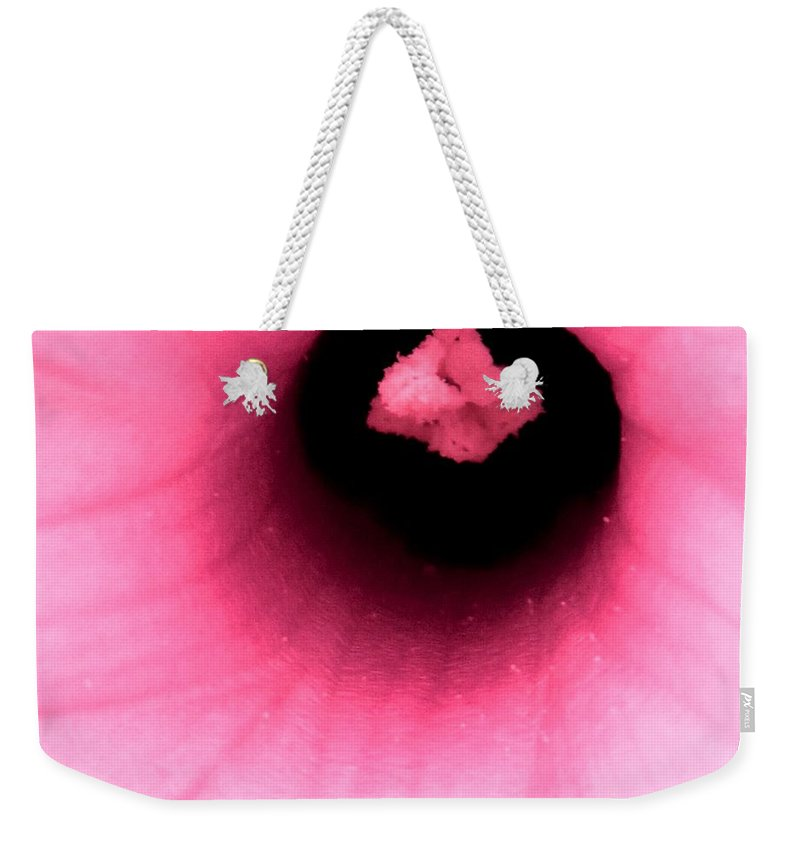 Abstract Weekender Tote Bag featuring the photograph Sucked Into A Black Hole by Ian MacDonald