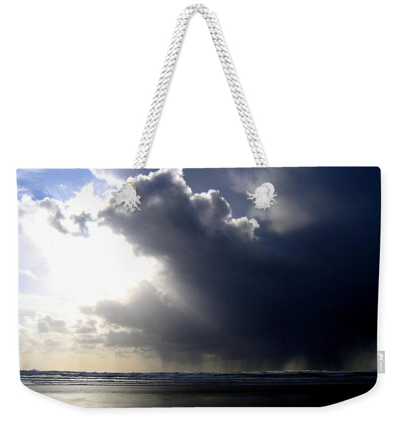 Squall Weekender Tote Bag featuring the photograph Sudden Squall by Will Borden