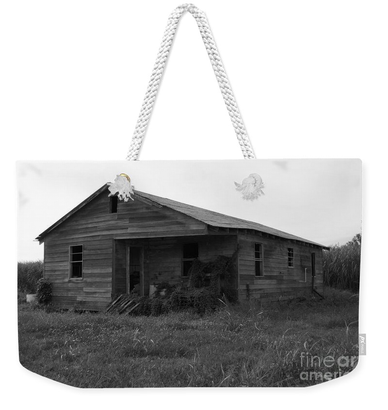 Black And White Weekender Tote Bag featuring the photograph Sugar Shack by Michelle Powell