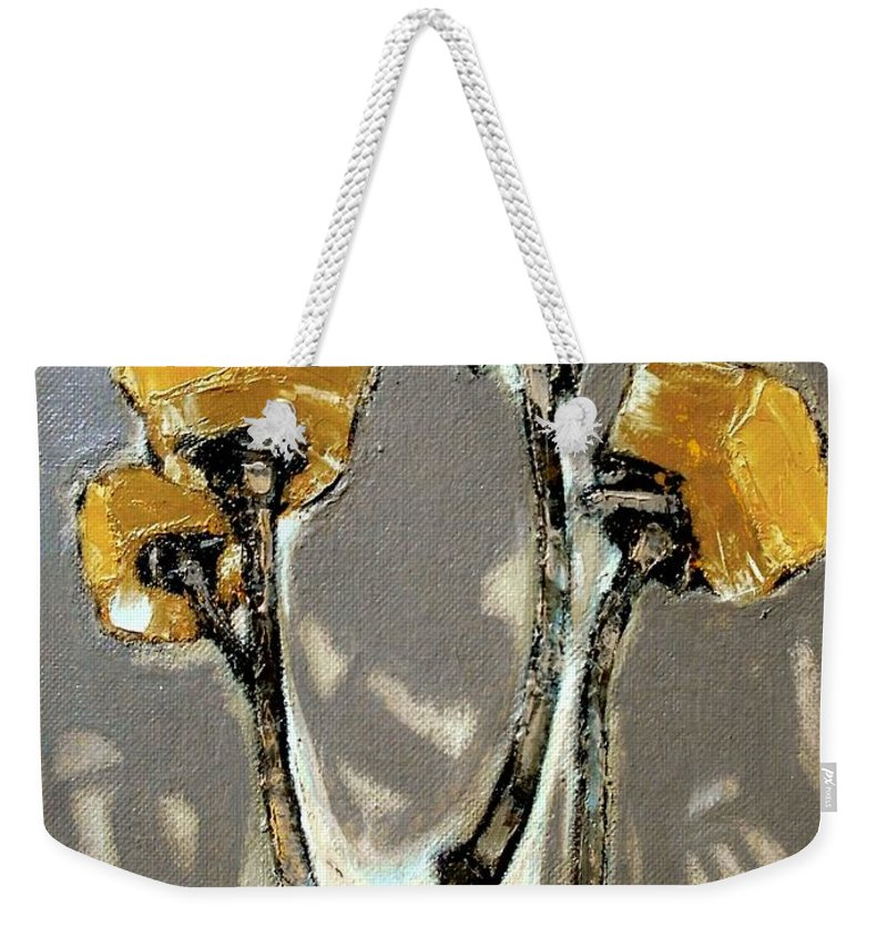 Still Life Weekender Tote Bag featuring the painting Suggestion Of Orange Flowers by Pemaro