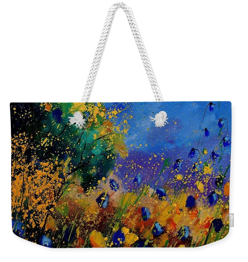 Poppy Weekender Tote Bag featuring the painting Summer 459090 by Pol Ledent