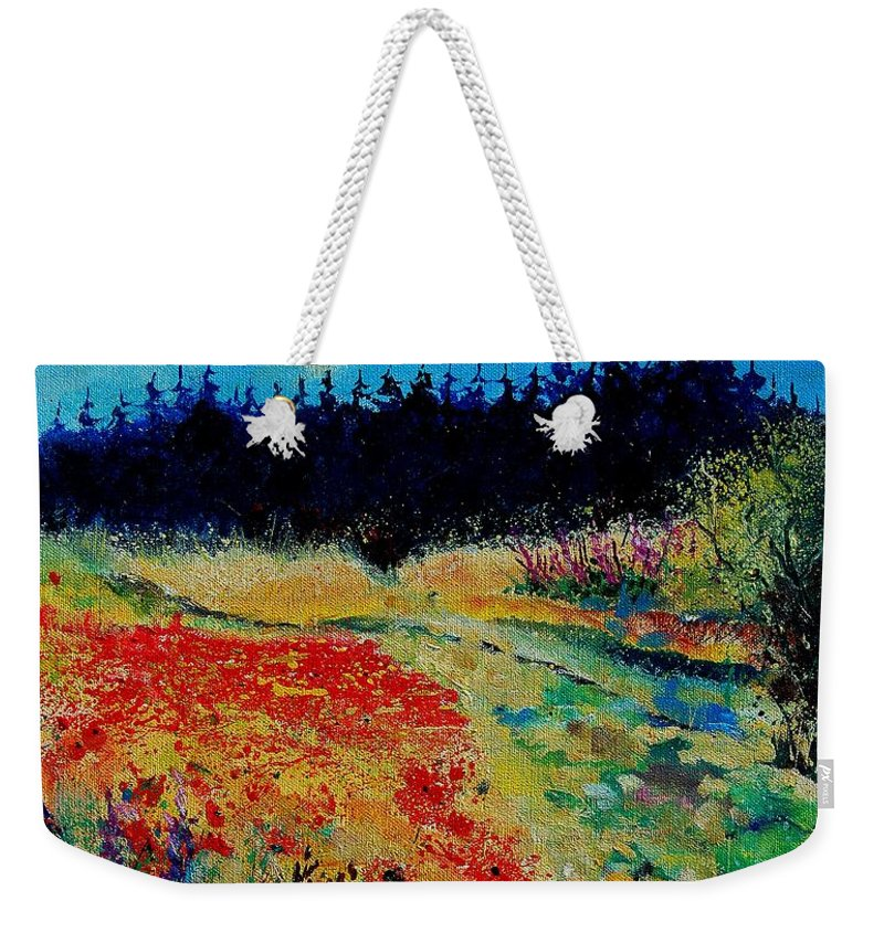 Tree Weekender Tote Bag featuring the painting Summer 56 by Pol Ledent