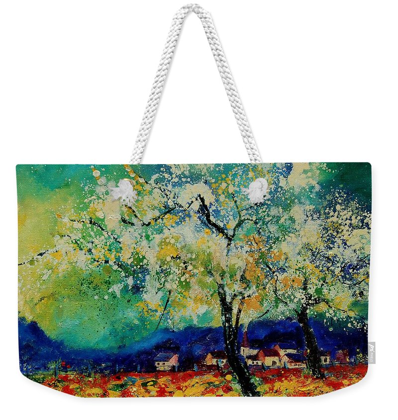 Spring Weekender Tote Bag featuring the painting Summer 5691235 by Pol Ledent