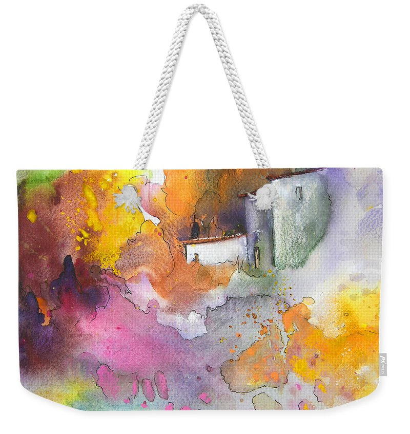 Art Miki Weekender Tote Bag featuring the painting Summer Afternnon 03 by Miki De Goodaboom