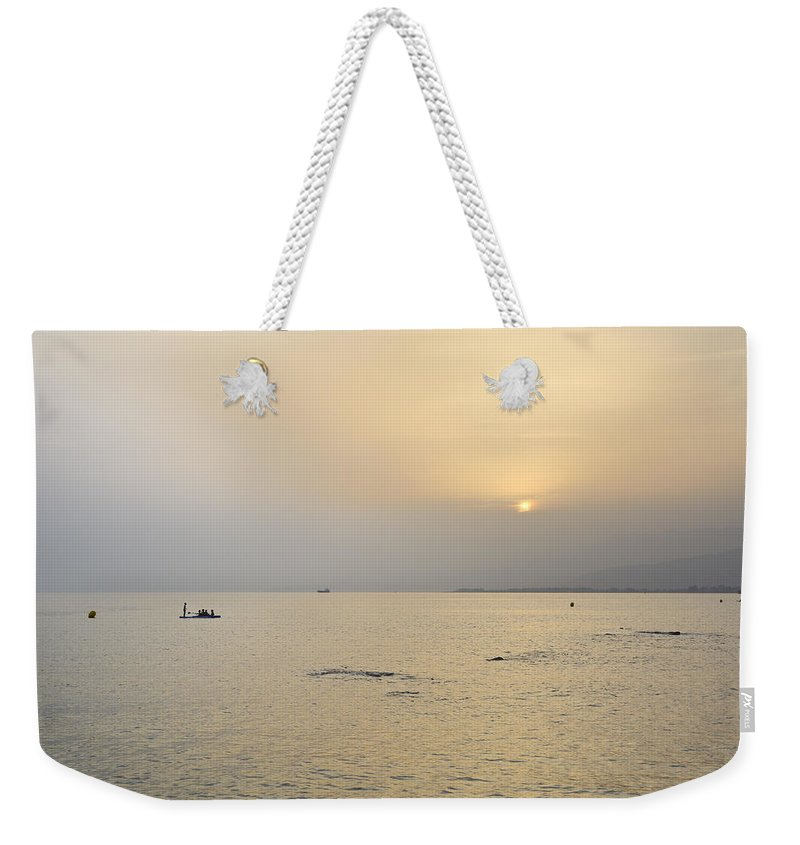 Sunset Weekender Tote Bag featuring the photograph Summer Beach Dreams by Guido Montanes Castillo