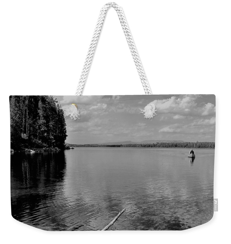 Black And White Landscape Weekender Tote Bag featuring the photograph Summer Bliss by Heidi Fickinger