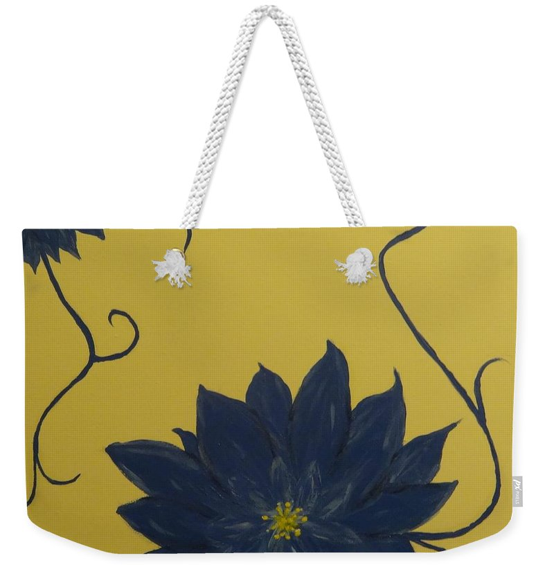 Flowers Weekender Tote Bag featuring the painting Summer Blooms by Laura Johnson