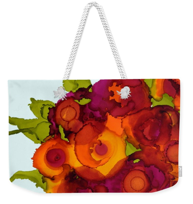 Floral Weekender Tote Bag featuring the painting Summer Bouquet by Beth Kluth