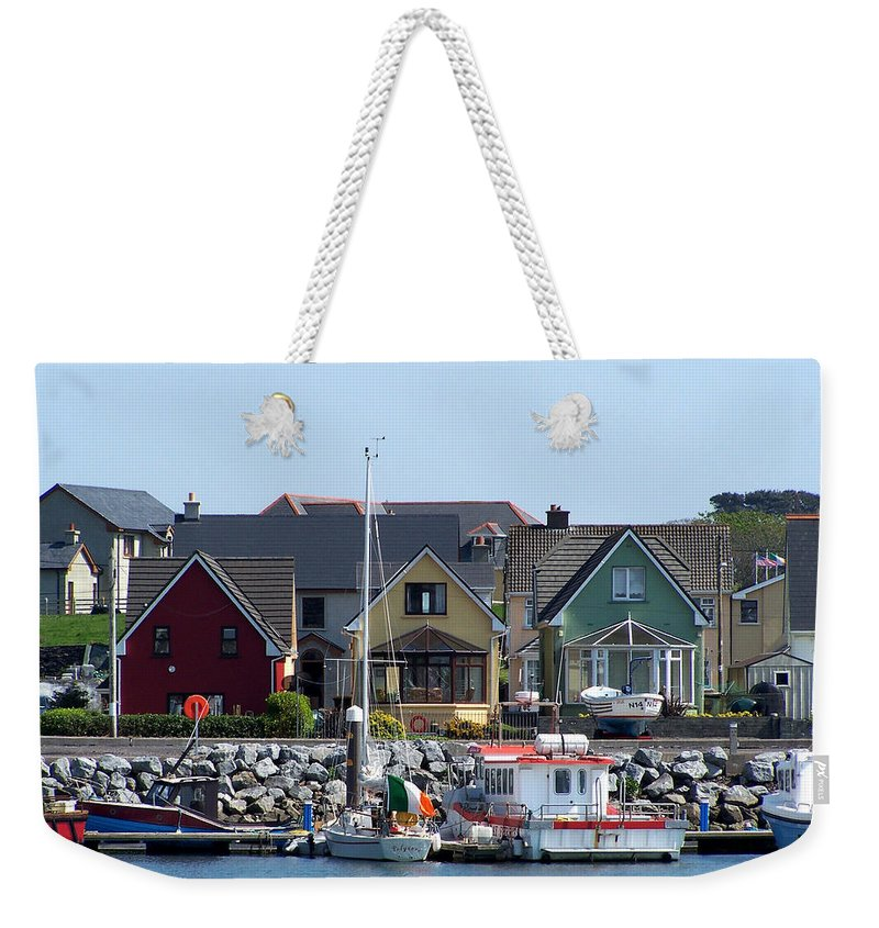 Irish Weekender Tote Bag featuring the photograph Summer Cottages Dingle Ireland by Teresa Mucha