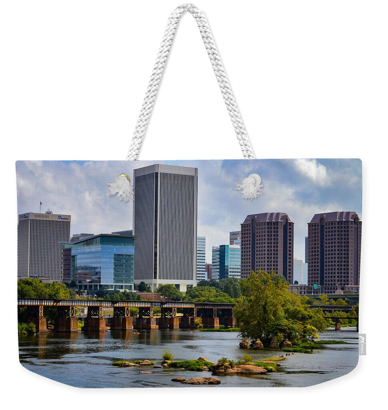 Richmond Weekender Tote Bag featuring the photograph Summer Day In Rva by Aaron Dishner