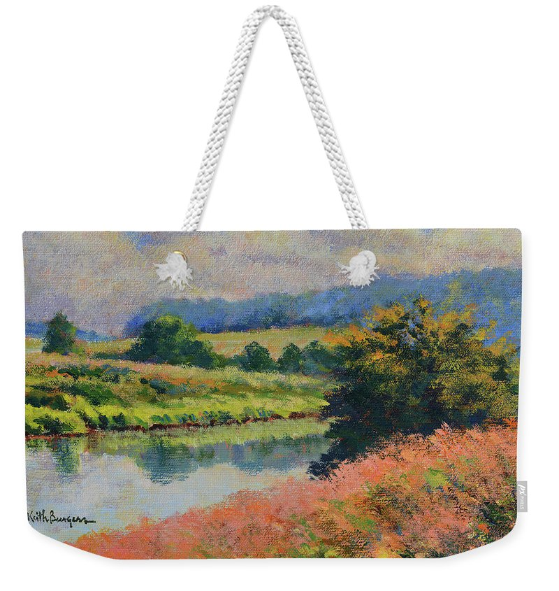 Impressionism Weekender Tote Bag featuring the painting Summer Day by Keith Burgess