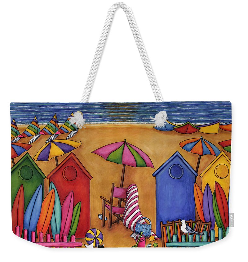 Summer Weekender Tote Bag featuring the painting Summer Delight by Lisa Lorenz
