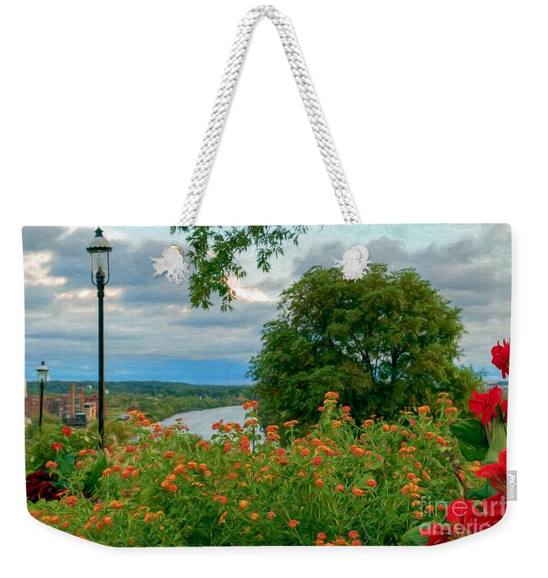 Libby Hill Park Weekender Tote Bag featuring the photograph Summer Florals by Ava Reaves