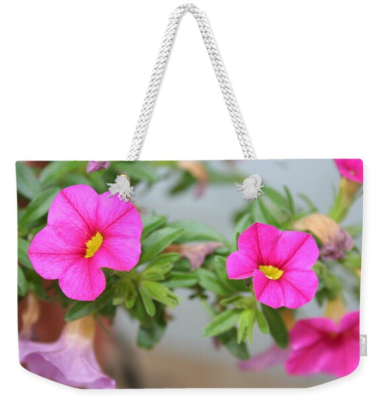 Flowers Weekender Tote Bag featuring the photograph Summer Flowers by Linda Sannuti