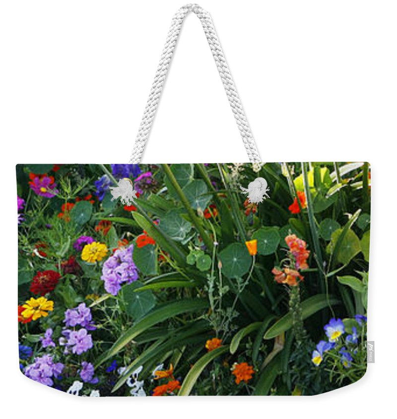 Summer Weekender Tote Bag featuring the photograph Summer Garden 2 by Marilyn Hunt